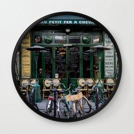 Paris Restaurant in the Marais Wall Clock
