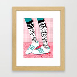 Aiight - sports fashion retro throwback style 1980s neon palm springs socal country club hipster Framed Art Print