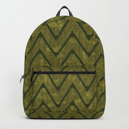 Moss Green Imitation Suede Zig Zag Pattern Backpack