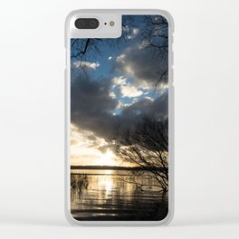 Sunset in the Los Padres lagoon. Clear iPhone Case
