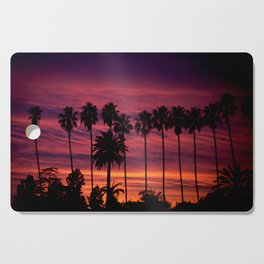 Sunset over Hollywood Cutting Board