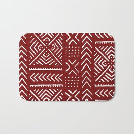 Line Mud Cloth // Maroon Bath Mat