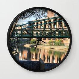 Red Brick Reflections Wall Clock