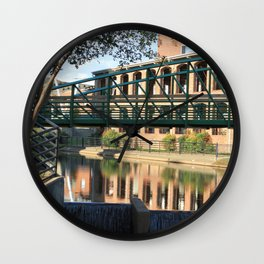 Red Brick Reflections Wall Clock