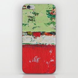 Dixon Red Green Abstract Painting Print iPhone Skin