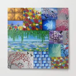 collage of art by Cathy Jacobs  Metal Print
