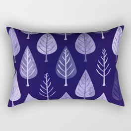 Watercolor Forest Pattern #8 Rectangular Pillow