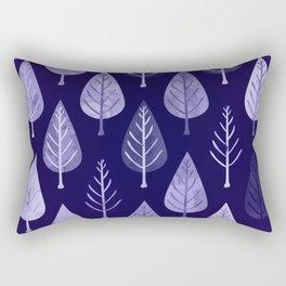 Watercolor Forest Pattern #8 Rectangular Pillow