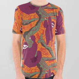 Sloth Mosaic All Over Graphic Tee