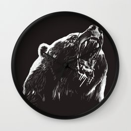 Bear, sketch 2 Wall Clock