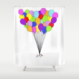 Flight of the Unicorns Shower Curtain