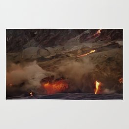 Kilauea Volcano Lava Flow. 6 Rug