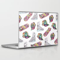 hologram Laptop & iPad Skins featuring watercolor back to the future 2 by Sarah Brust