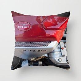 Moto Guzzi Stelvio Throw Pillow