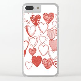 Heart of Ice Clear iPhone Case