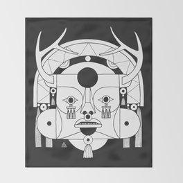 Lost Mask III Throw Blanket