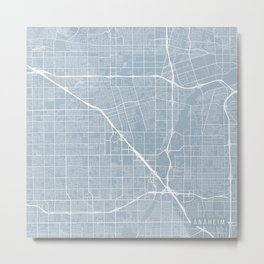 Anaheim Map, USA - Slate Metal Print