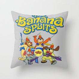 The Banana Splits Throw Pillow
