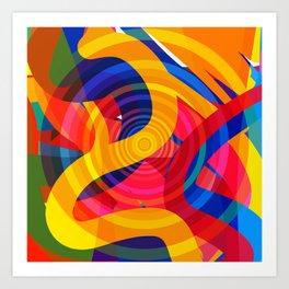 Hypnotic Psychedelic Abstract Pop Art by Emmanuel Signorino Art Print