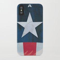 Captain America Minimal iPhone X Slim Case