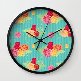 Rose Stripe Wall Clock
