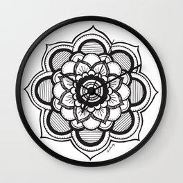Mandala Illustration Wall Clock