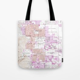 Vintage Map of Palm Springs California (1957) 2 Tote Bag