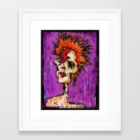 aladdin Framed Art Prints featuring Aladdin Sane by brett66