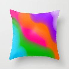 Sherbet Rainbow Colors Throw Pillow