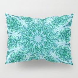 Vintage Doily Teal Green Kaleidoscope Pillow Sham