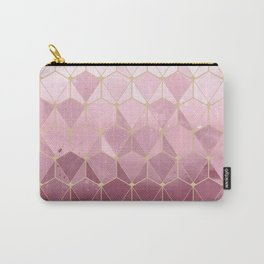 Pink gold geometric pattern Carry-All Pouch
