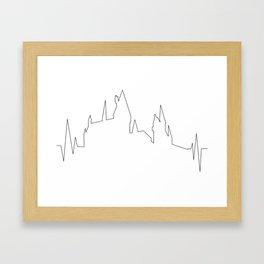 Hogwarts Heartbeat Framed Art Print