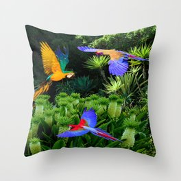 Jungle Paradise Throw Pillow