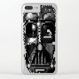 Darth-Vader-Pixel-Face Clear iPhone Case