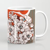 hawaiian Mugs featuring Mid Century Hawaiian by Vikki Salmela