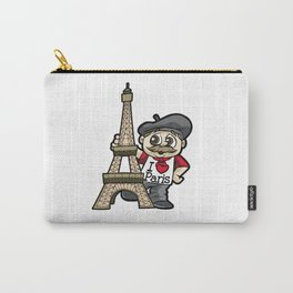 I LOVE PARIS France French Guy Eiffel Tower Gift Carry-All Pouch