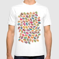 Leaf Colorful MEDIUM White Mens Fitted Tee