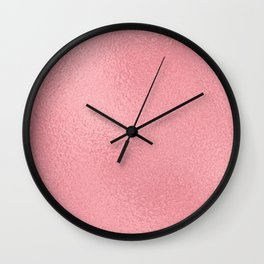 Simply Metallic in Pink Rose Gold Wall Clock