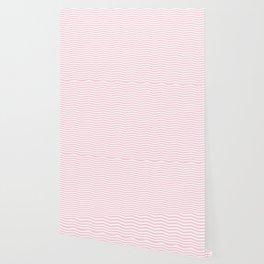 Light Soft Pastel Pink and White Chevron Wallpaper