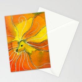 Leo Zodiac Horoscope Painting Stationery Cards