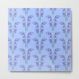Bluebell Field Periwinkle Metal Print