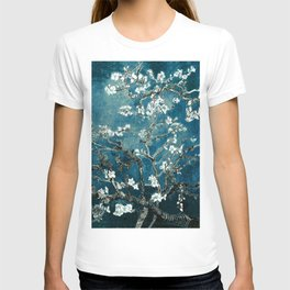Van Gogh Almond Blossoms : Dark Teal T-shirt