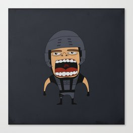 Screaming Johnny Rico Canvas Print
