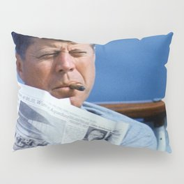John F Kennedy Smoking Pillow Sham