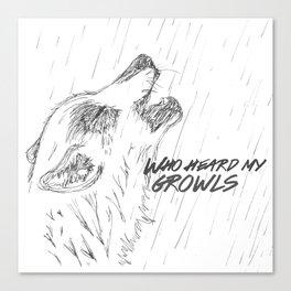 Growl Canvas Print
