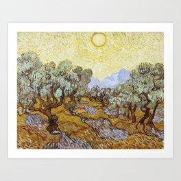 Olive Trees by Vincent van Gogh Art Print