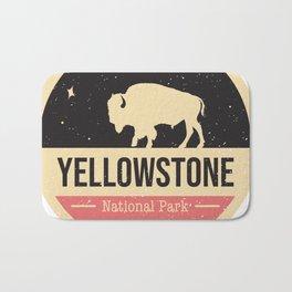 Yellowstone National Park Badge Bath Mat