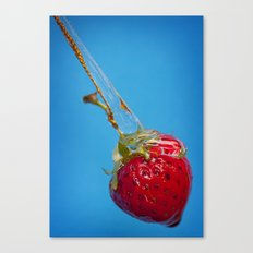 Strawberry and Syrup Canvas Print
