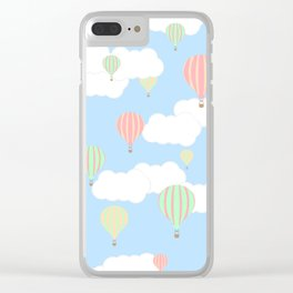 Hot Air Balloon In the Sky Clear iPhone Case