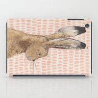 hare iPad Cases featuring Hare by stephanie cole DESIGN